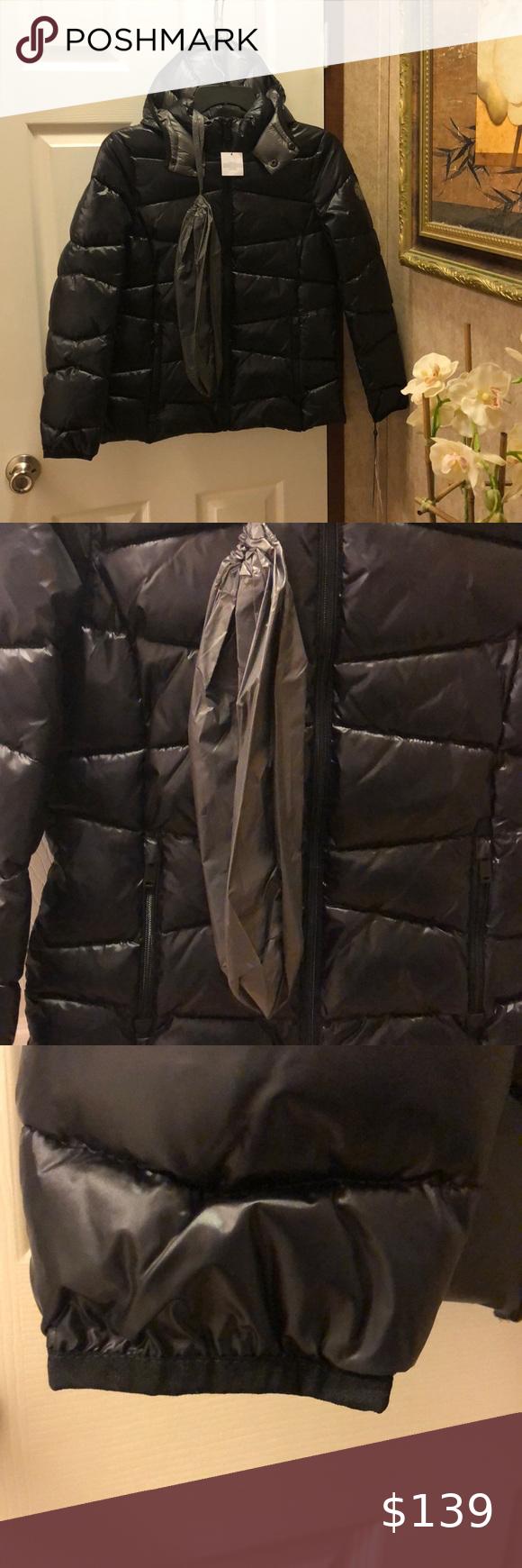 Brand New Dkny High Shine Puffer Jacket Dkny Puffer Jackets Puffer [ 1740 x 580 Pixel ]