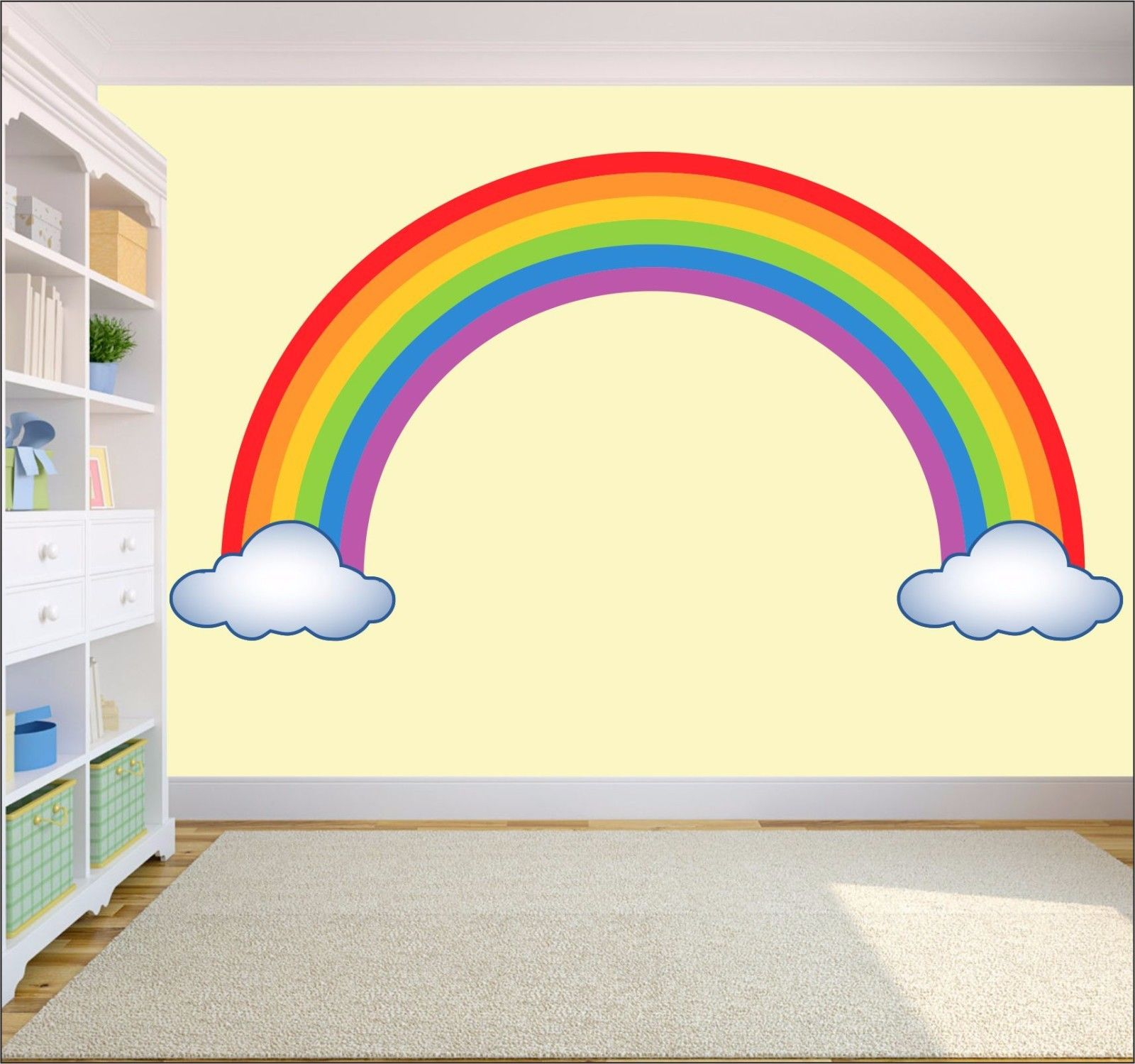Rainbow Wall Art Sticker Decal Childrens Bedroom Nursery Playroom Toys