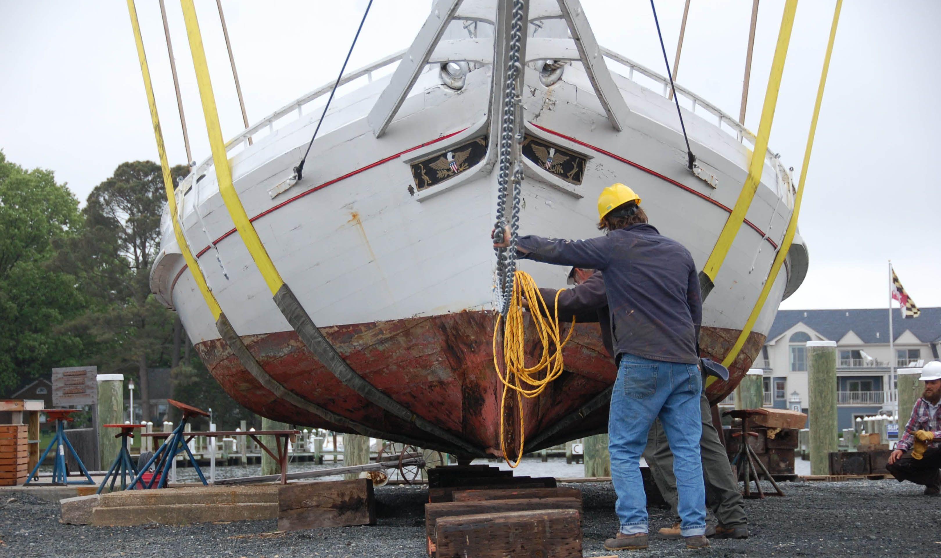 Edna lockwood restoration underway maritime museum