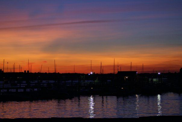 Rhode island sunset on the bay