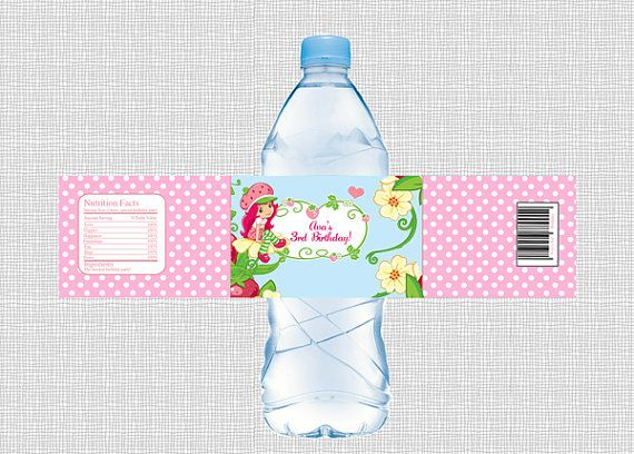 Strawberry Shortcake Water Bottle Label By PaperTinker On Etsy 300