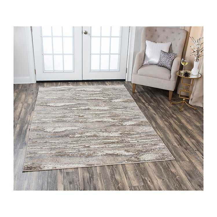 Beige Edward Abstract Area Rug, 8x10 in 2019