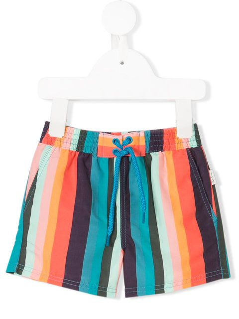 ea6c8f351b Shop Paul Smith Junior striped swim shorts | SWIMWEAR | Swim shorts ...