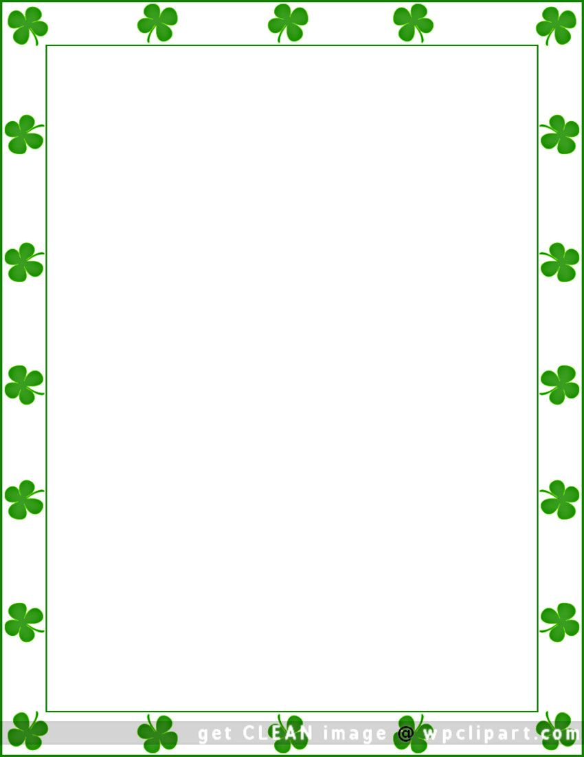 St. Patrick's Day shamrock border | Holiday Themed ...