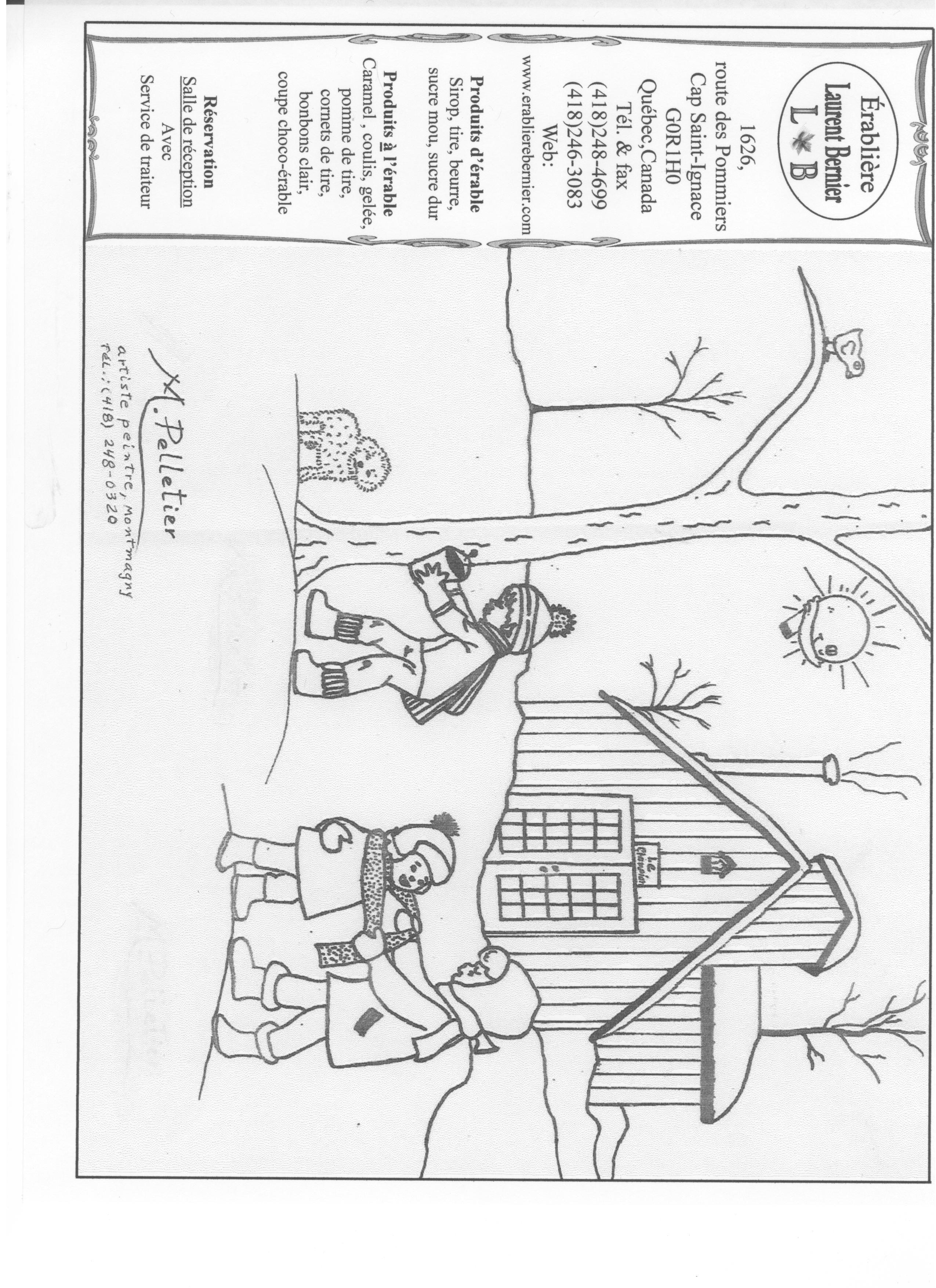 Cabane d enfant coloriage - Cabane en carton a colorier ...