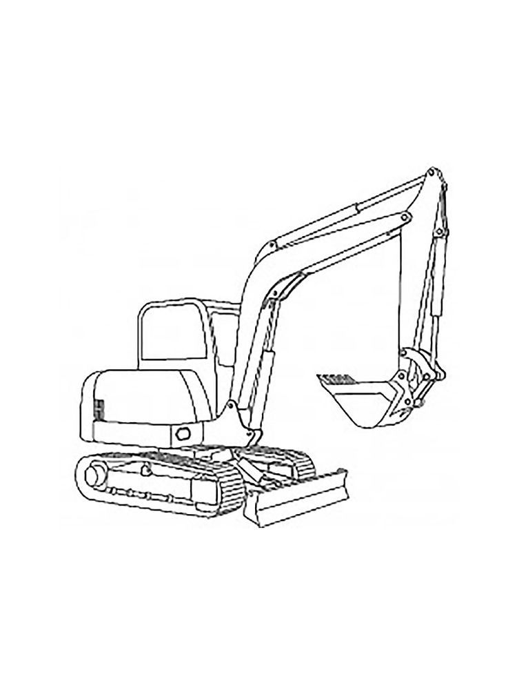 Excavator Truck Coloring Pages Excavators Are Heavy Equipment Consisting Of Arms Booms And Bucket Truck Coloring Pages Coloring Pages Coloring Pages To Print