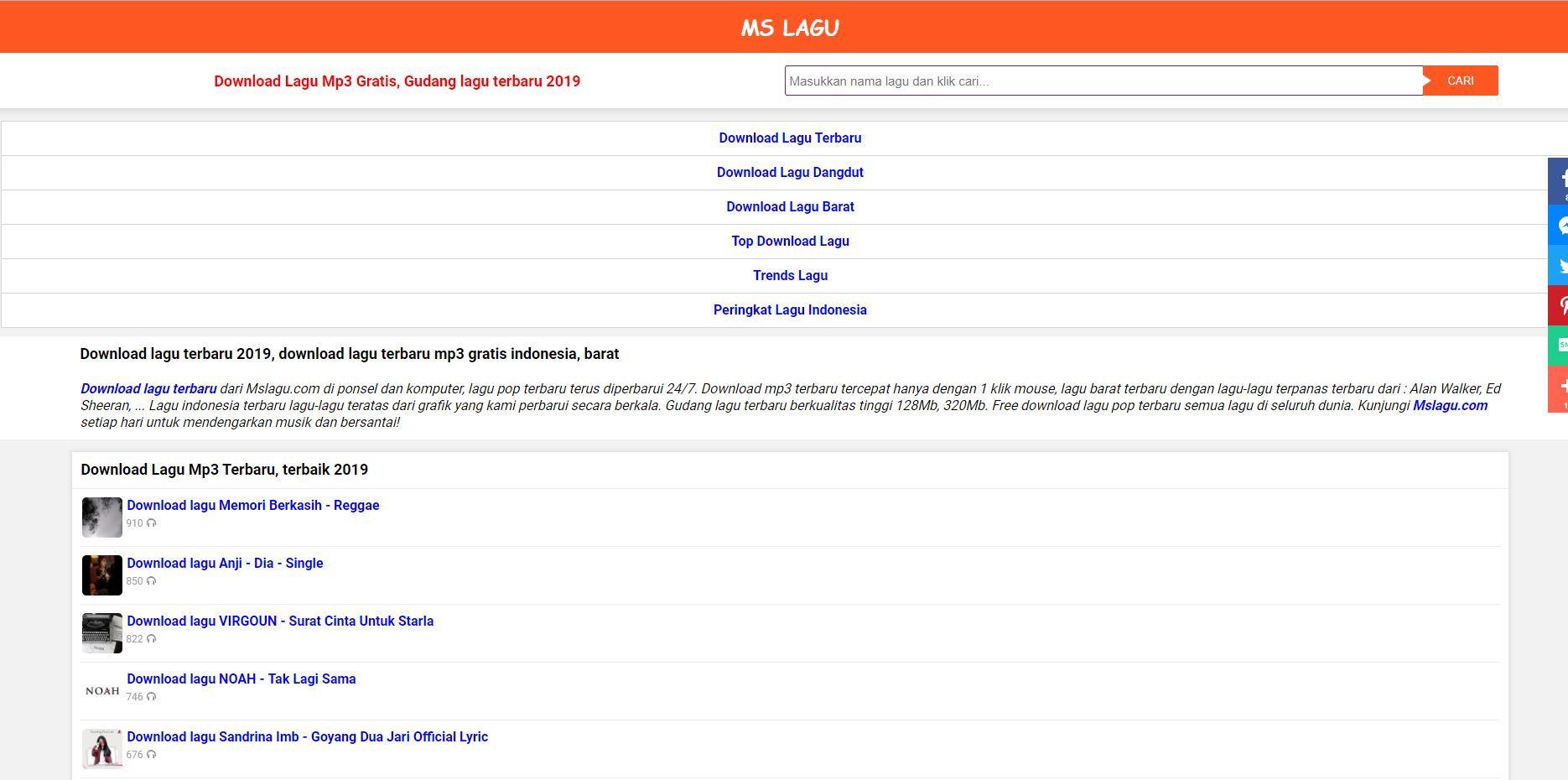 Situs Download Lagu Mslagu Com Tercepat Dan Gratis Di Ponsel Lagu