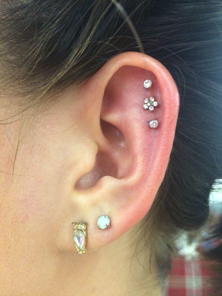 Cartilage piercing triple