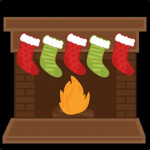 christmas fireplace stockings svg scrapbook shapes christmas cut rh pinterest com