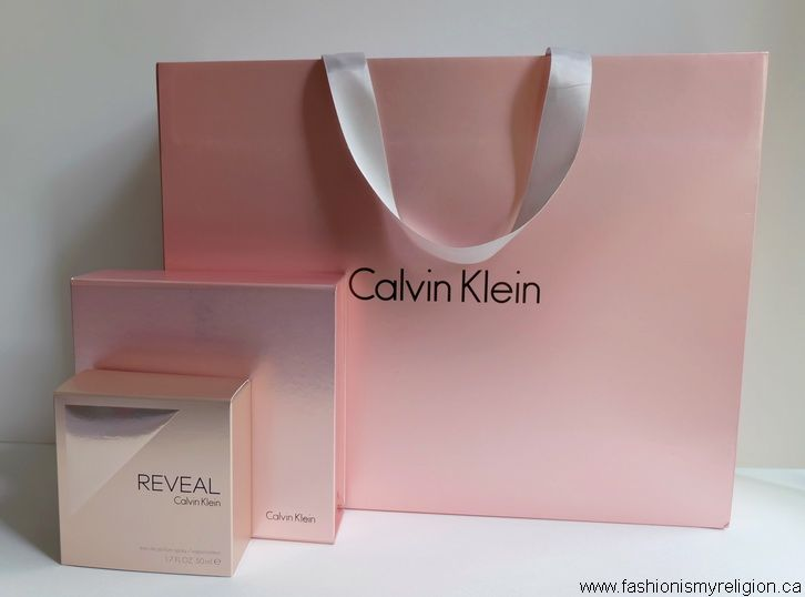 Goodie bag, REVEAL fragrance by CALVIN KLEIN | www.fashionismyreligion.ca