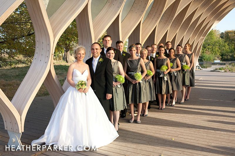 Green and gray wedding ideas, bridal party | Kiwi and Slate ...