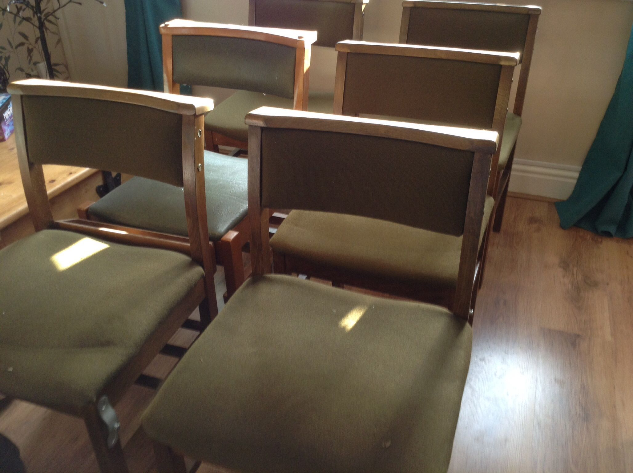Up cycled chapel chairs before