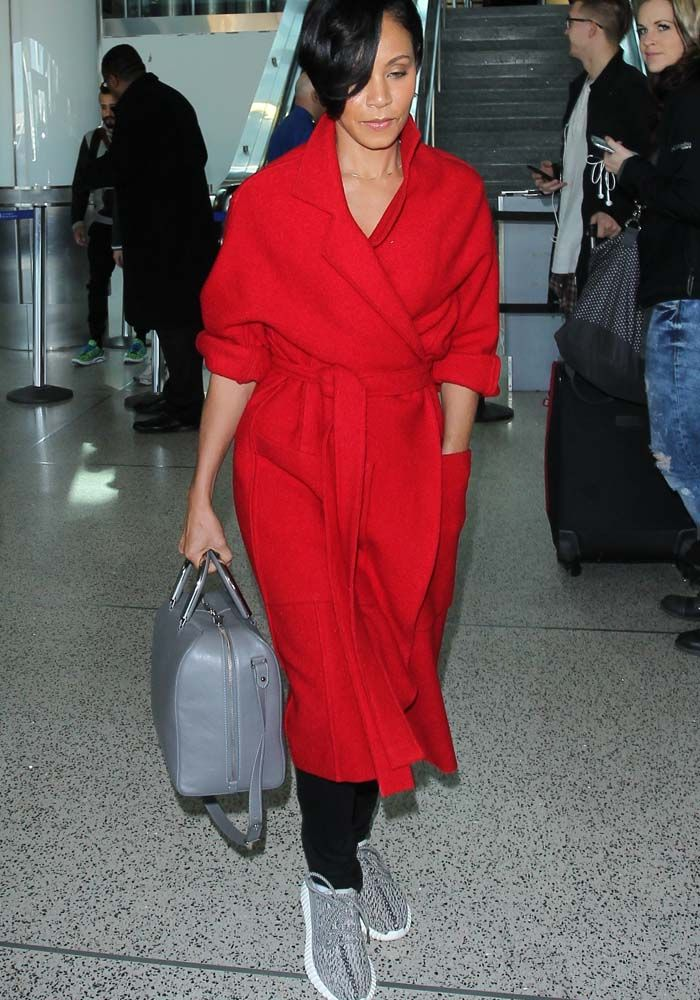 938d3d96924 Jada Pinkett-Smith arrives at the Los Angeles Airport (LAX) on ...