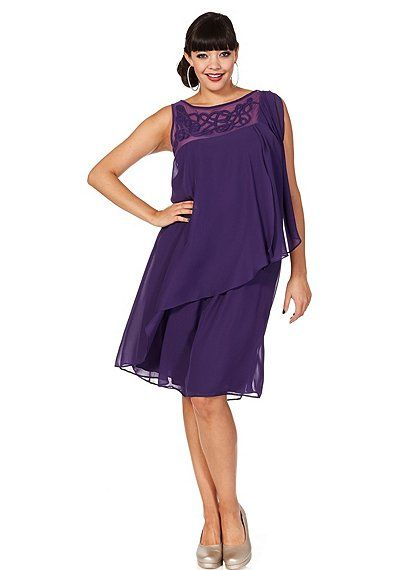 sheego Style Cocktailkleid - lila | Damenmode online kaufen ...