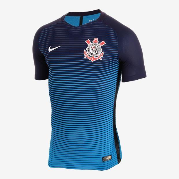 62b6ae31ec Camiseta Nike Corinthians III 2016 2017 Jogador Masculina(0 Reviews) Manga…