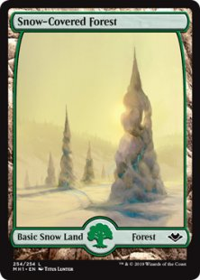 4x Snow-Covered Plains Modern Horizons MTG Magic the Gathering