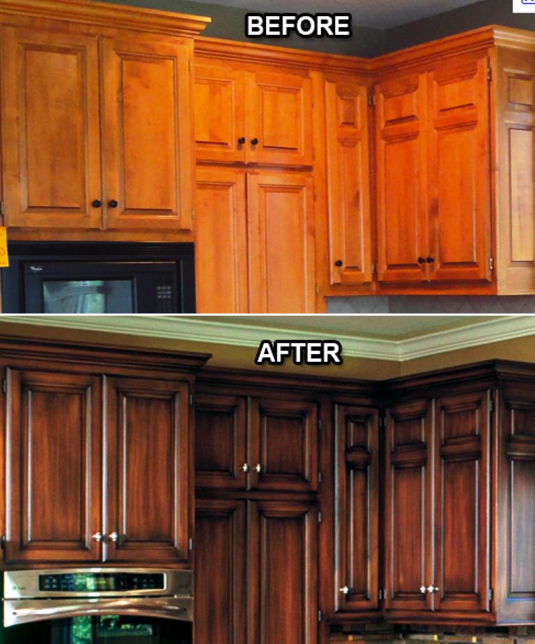 Repainting Oak Kitchen Cabinets: Refinishing Oak Kitchen Cabinets