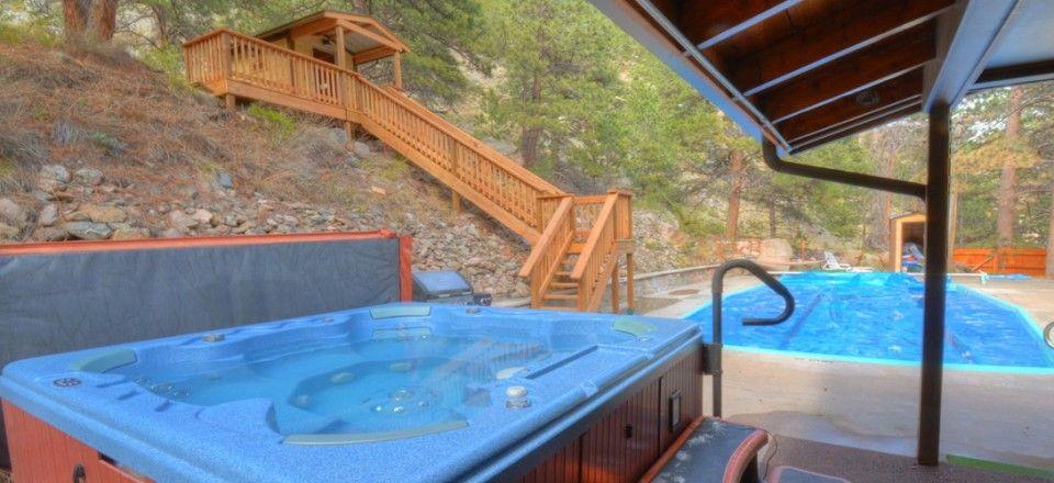 big thompson pool cabin 22 acre private getaway near estes park rh pinterest com
