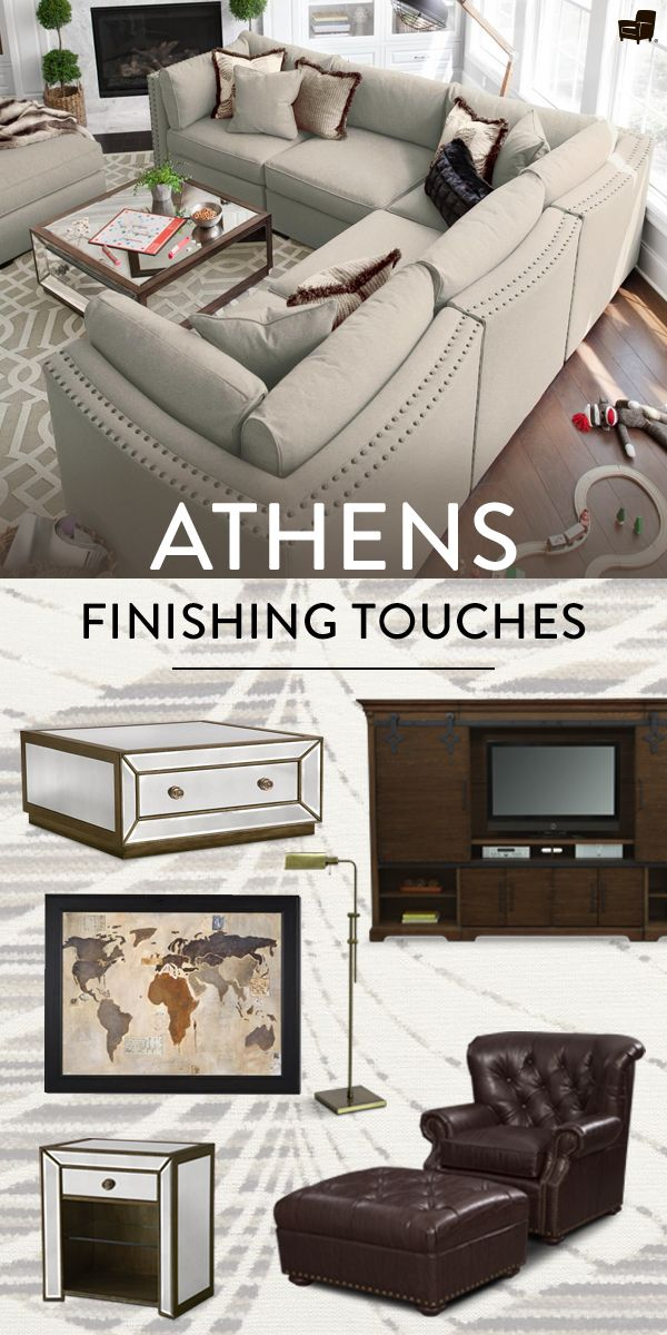living room arrangements%0A Transform your living room into an everyday getaway with the luxurious  comfort of the Athens collection