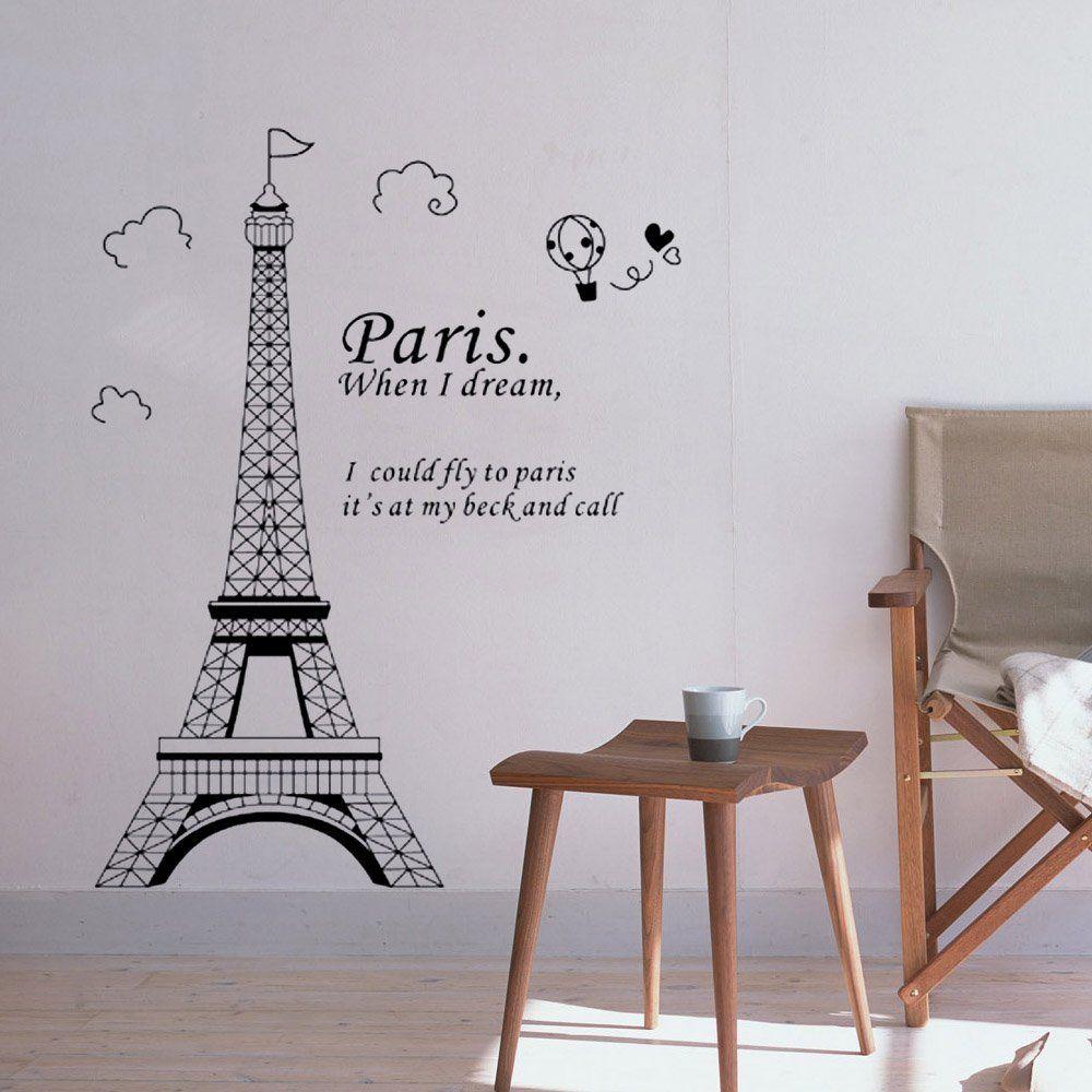Paris Eiffel Tower Beautiful Stickers Sticker Decor Wall
