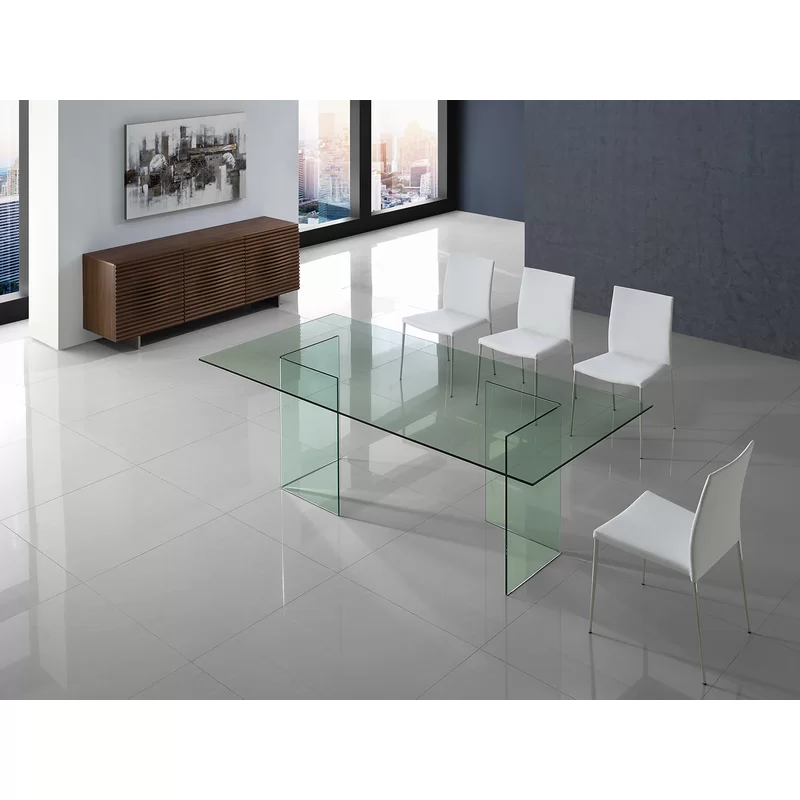 Kareem Dining Table In 2020 Modern Dining Table Glass Dining Table Rectangle Dining Table