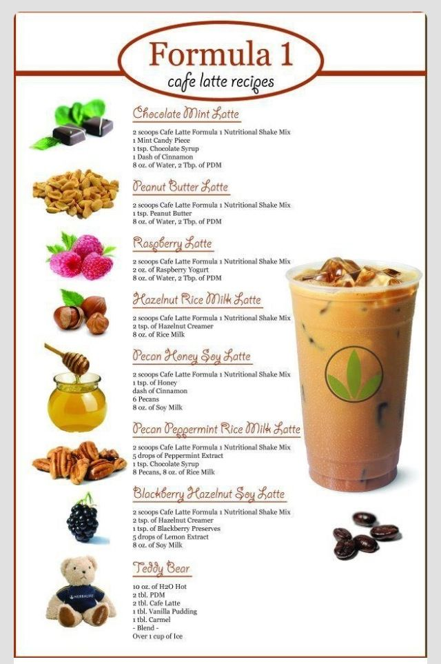 Herbalife Cafe Latte Recipes Herbalife Recipes Herbalife Shake