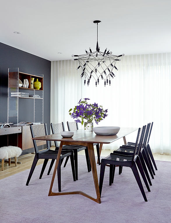 electric modern dining room design with statement hanging light m rh pinterest com