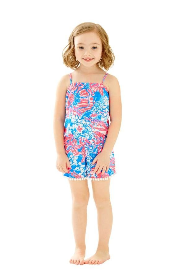 03579bc5008 Lilly pulitzer girls peyton romper sugar and spice lilly jpg 560x900 Lilly  pulitzer girls romper