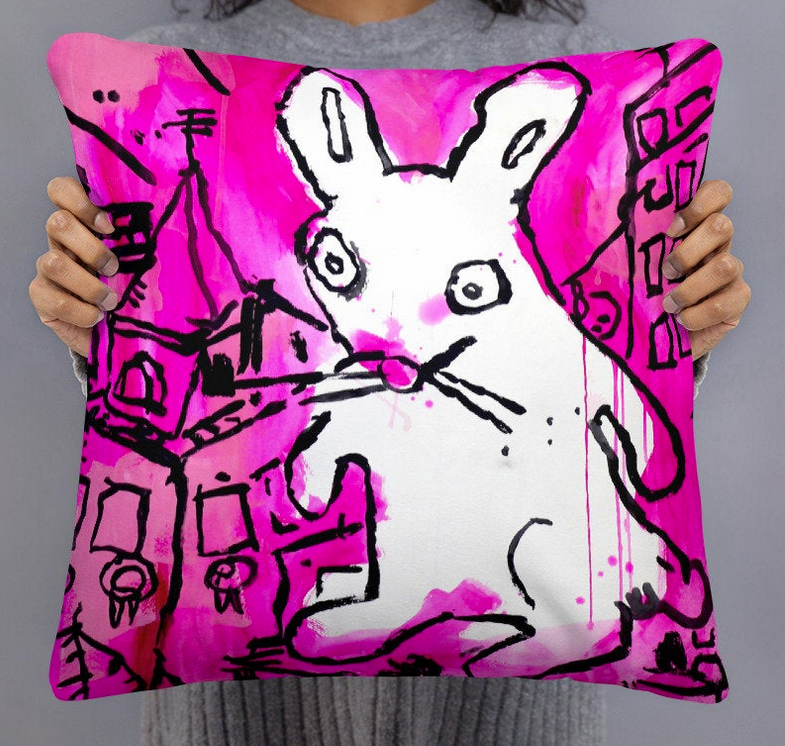 GoodKidRob Prints On Off Purple Pink- 11 X 14 Robot Art Poster Print