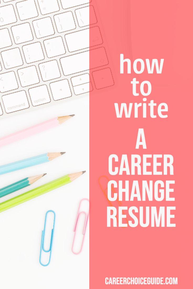 Career change resume sample in 2020 career change resume