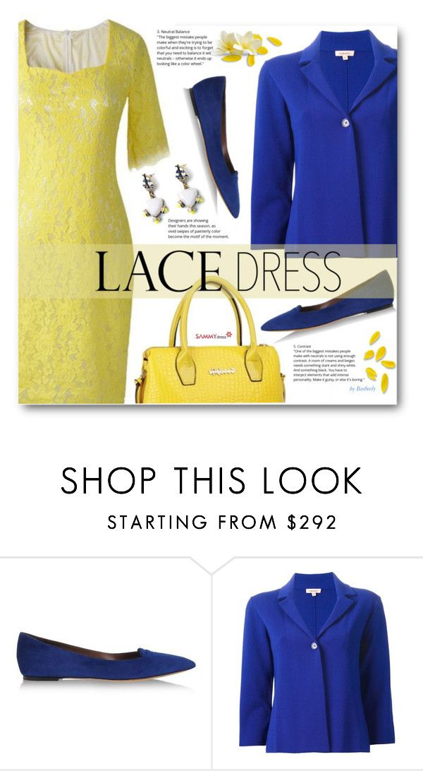 """Lovely Lace Dresses"" by beebeely-look ❤ liked on Polyvore featuring Tabitha Simmons, P.A.R.O.S.H., lace, classy, sammydress, springfashion and lacedress"