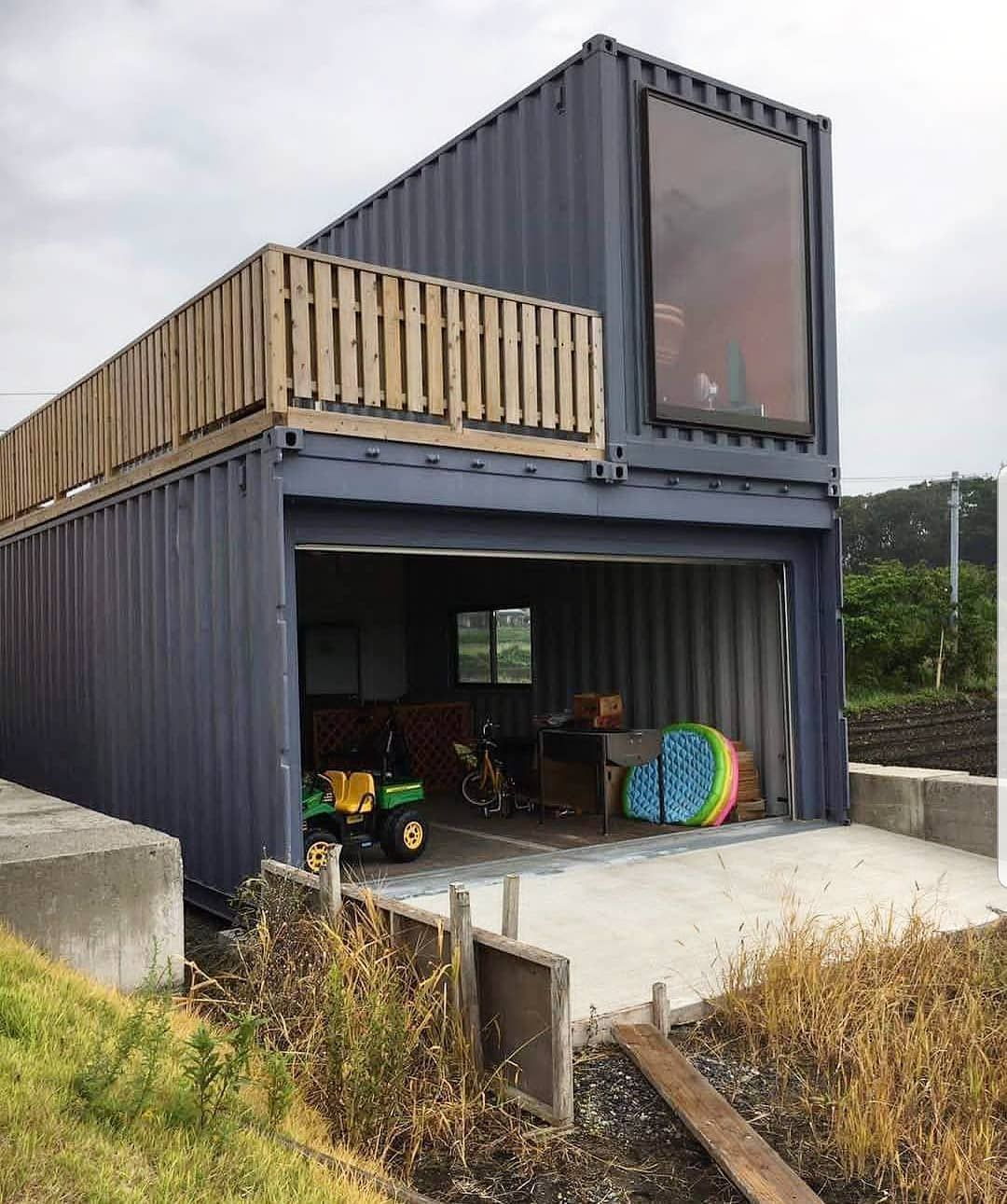 Custom Shipping Container Car Garage: Build A Shipping Container Home And Still Have A Giant