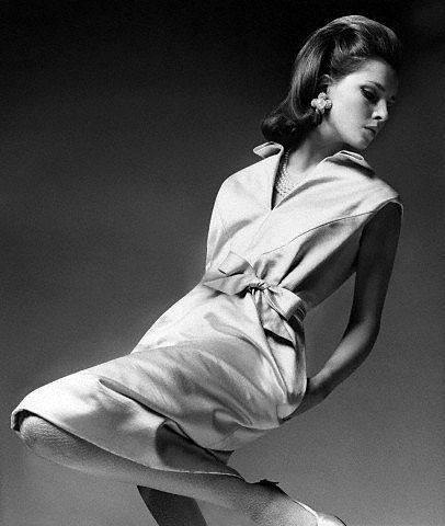 Jennifer O'Neill wearing a dress by Givenchy. Photo: Bert Stern, November 1964.