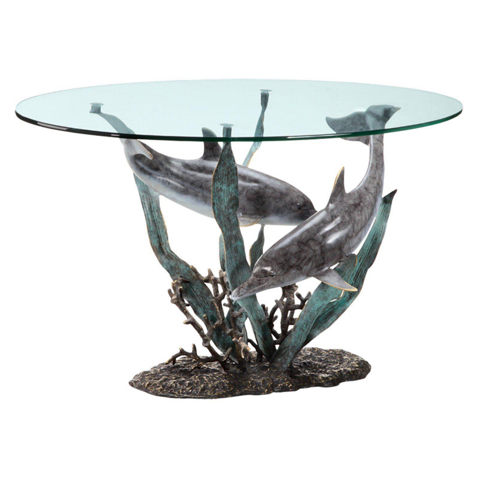 San Pacific International Dolphin Duet Coffee Table Coffee Table Nautical Table Marble Coffee Table [ 1600 x 1600 Pixel ]