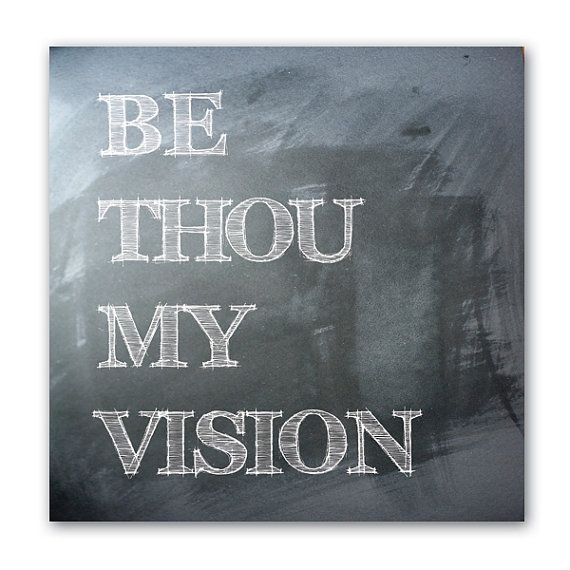 Be Thou My Vision Wall Art - Scripture Canvas Art   Scripture canvas ...