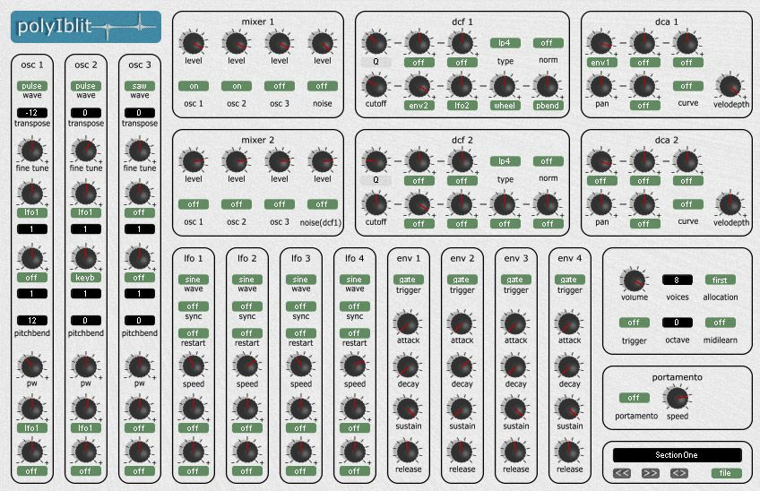 PolyIblit 32 voices analog synth. Analog synth, Synth