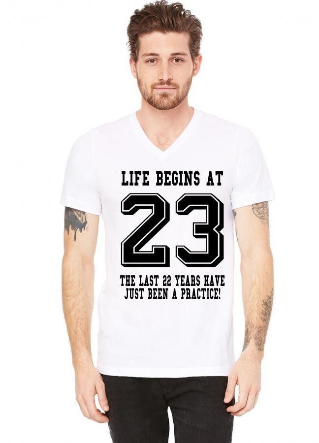23rd Birthday V Neck Tee