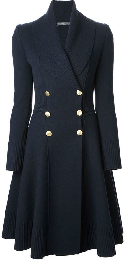 e11c12ba0f0 Alexander McQueen double breasted coat on shopstyle.com | Warm up ...