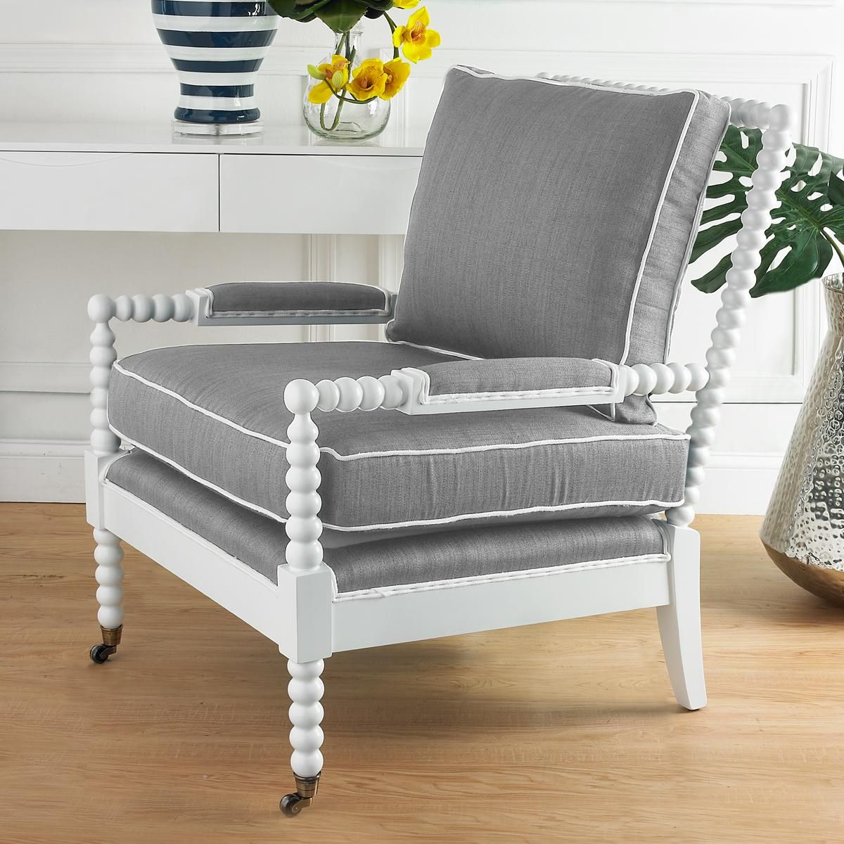 Wooden Spool Accent Chair   Pinterest   Spool chair ...