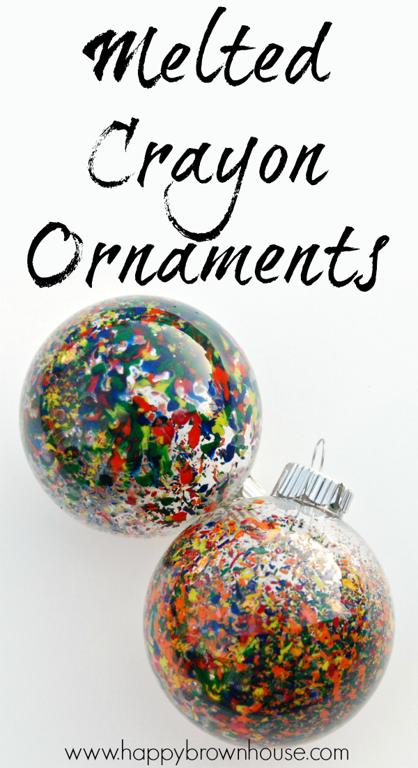 Make beautiful Melted Crayon Ornaments to hang on your tree. You only need  a few materials for these gorgeous Christmas ornaments. - Melted Crayon Christmas Ornaments Crayon Ideas Pinterest