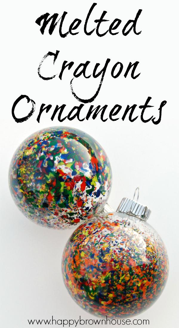 melted crayon christmas ornaments pinterest crayons christmas