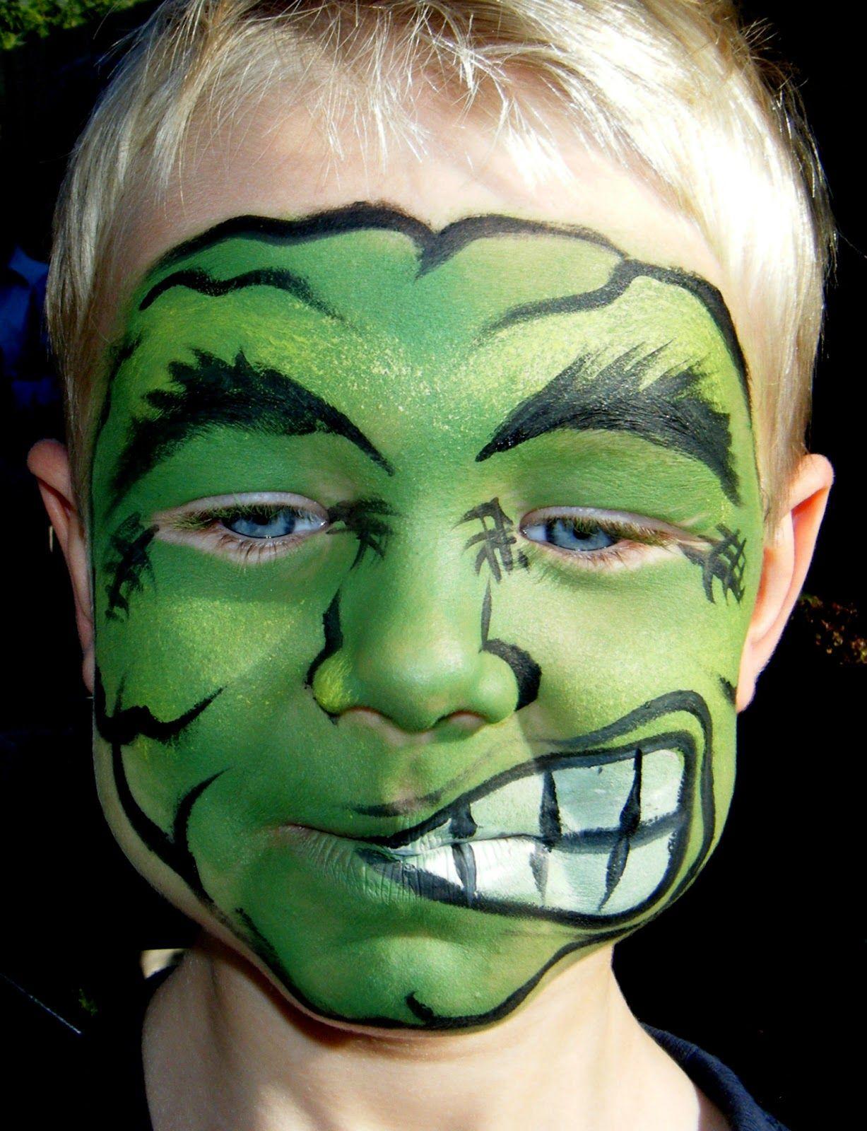 Masque super,héros Marvel , Hulk , make up , maquillage , boy , garçon ,  mask , enfants , kids , costume , déguisement , carnaval , carnival ,  halloween