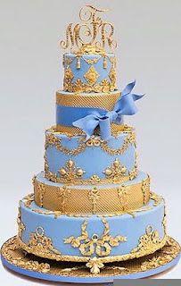 Hochzeitstorte Blau Gold Ron Ben Isreal Cake Wow Georgous