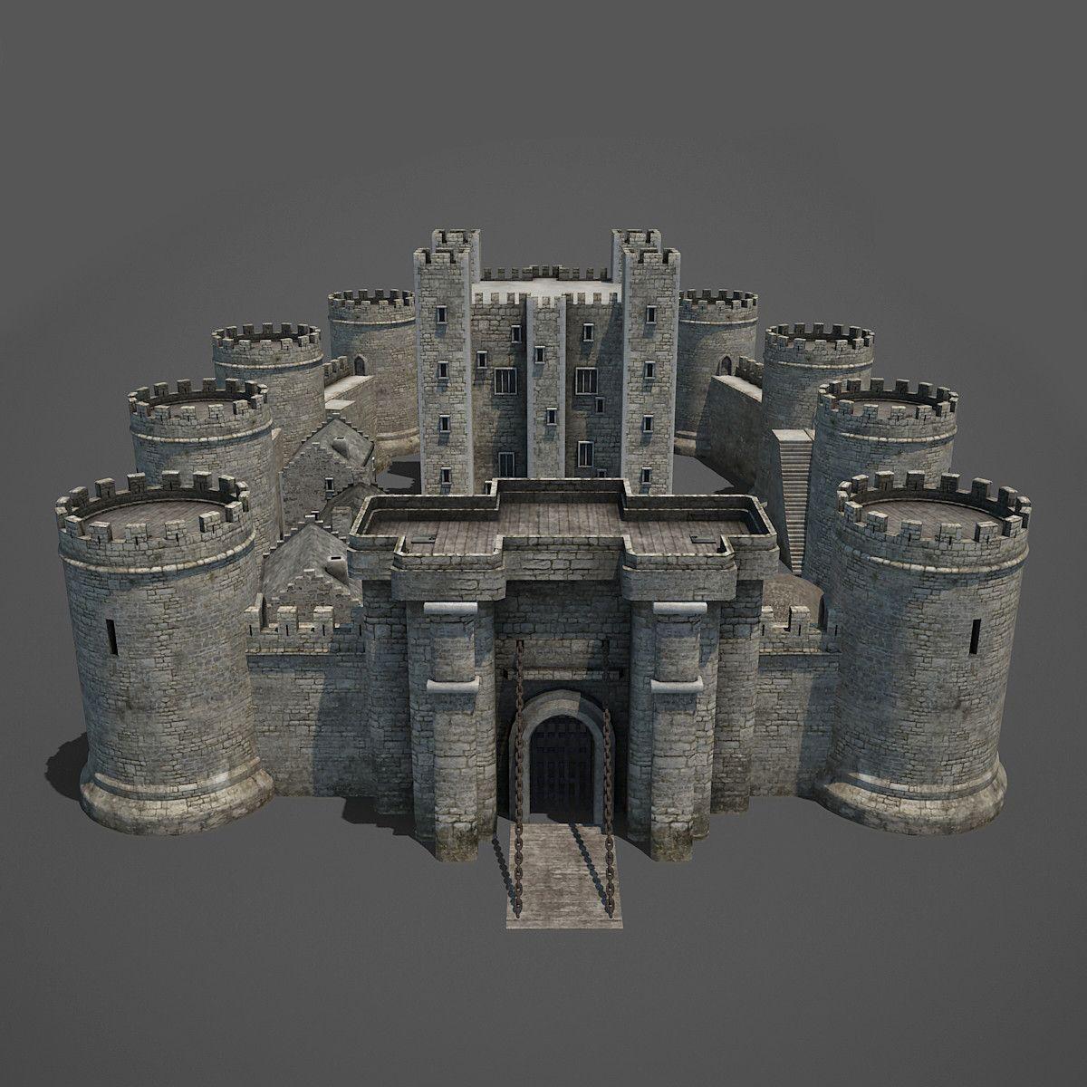 Unique European House Plans Medieval Castle 3d Max Denenecek Projeler Pinterest