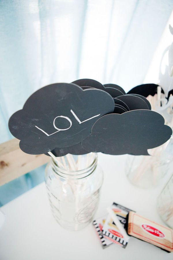 Chalk boards for photobooth