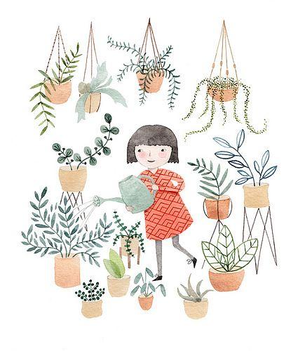 Plants girl | Plant girl, Plant art, Plant illustration