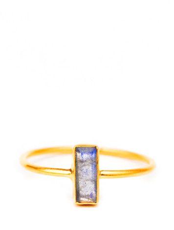 Temira Ring in Labradorite, $46.00