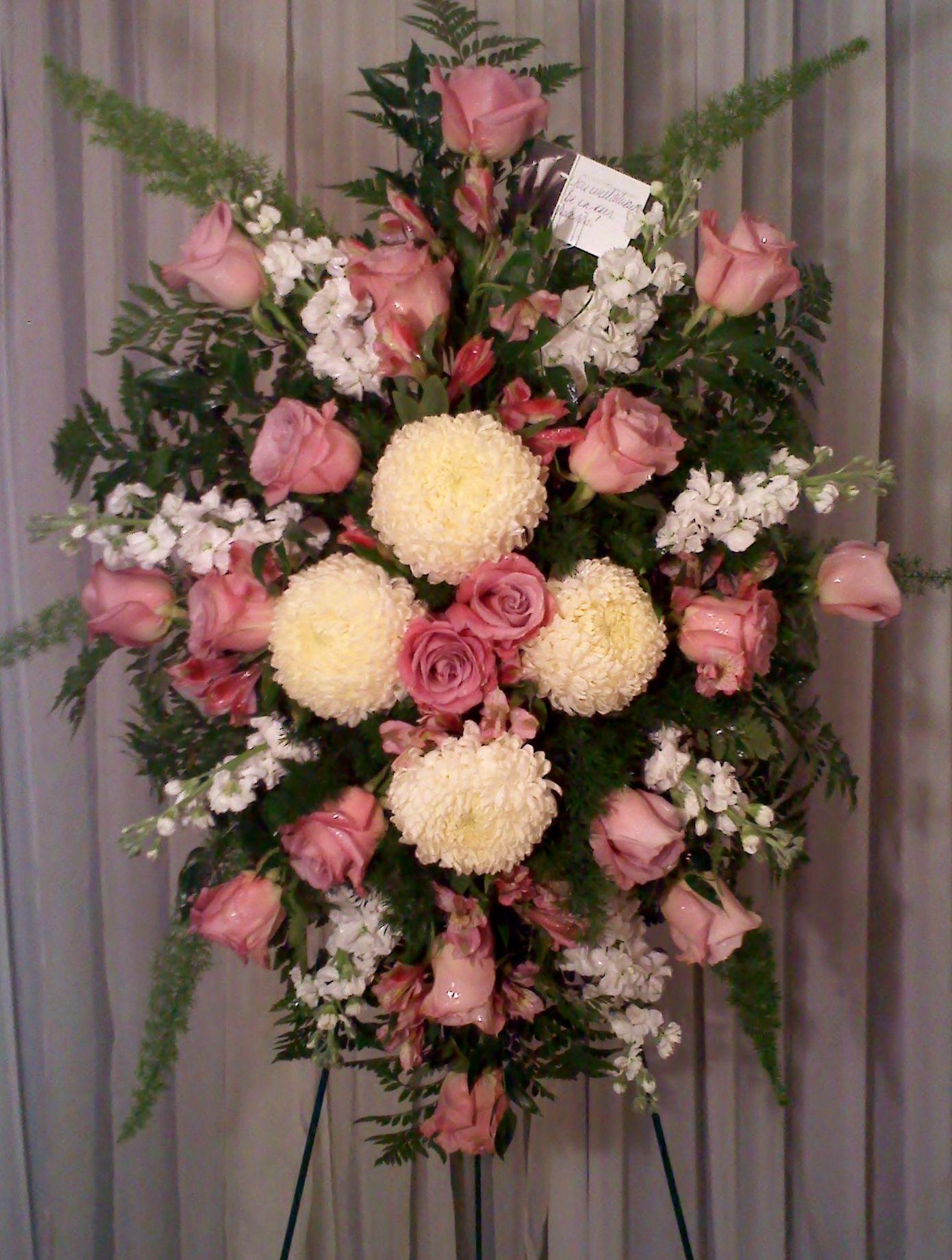 Fantasy flowers more custom rose and mum sympathy arrangement fantasy flowers more custom rose and mum sympathy arrangement funeral arrangementsdiy izmirmasajfo Choice Image