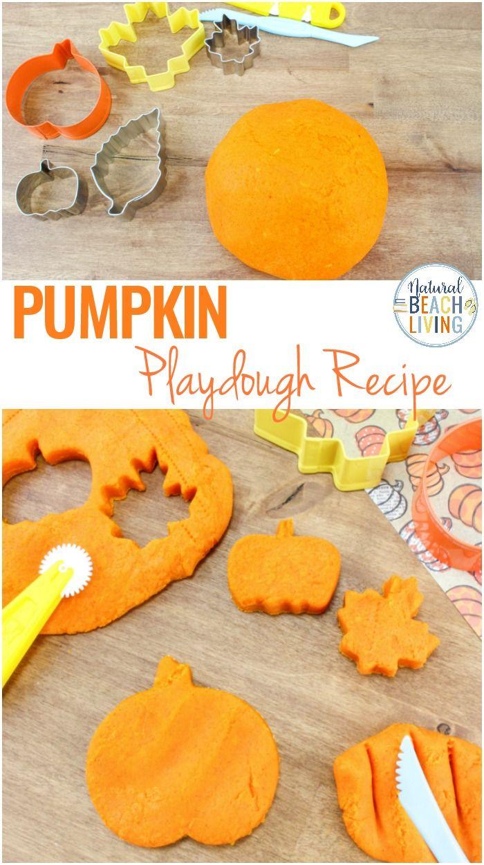 Pumpkin Playdough Recipe - The Best Pumpkin Pie Play Dough #pumpkincraftspreschool