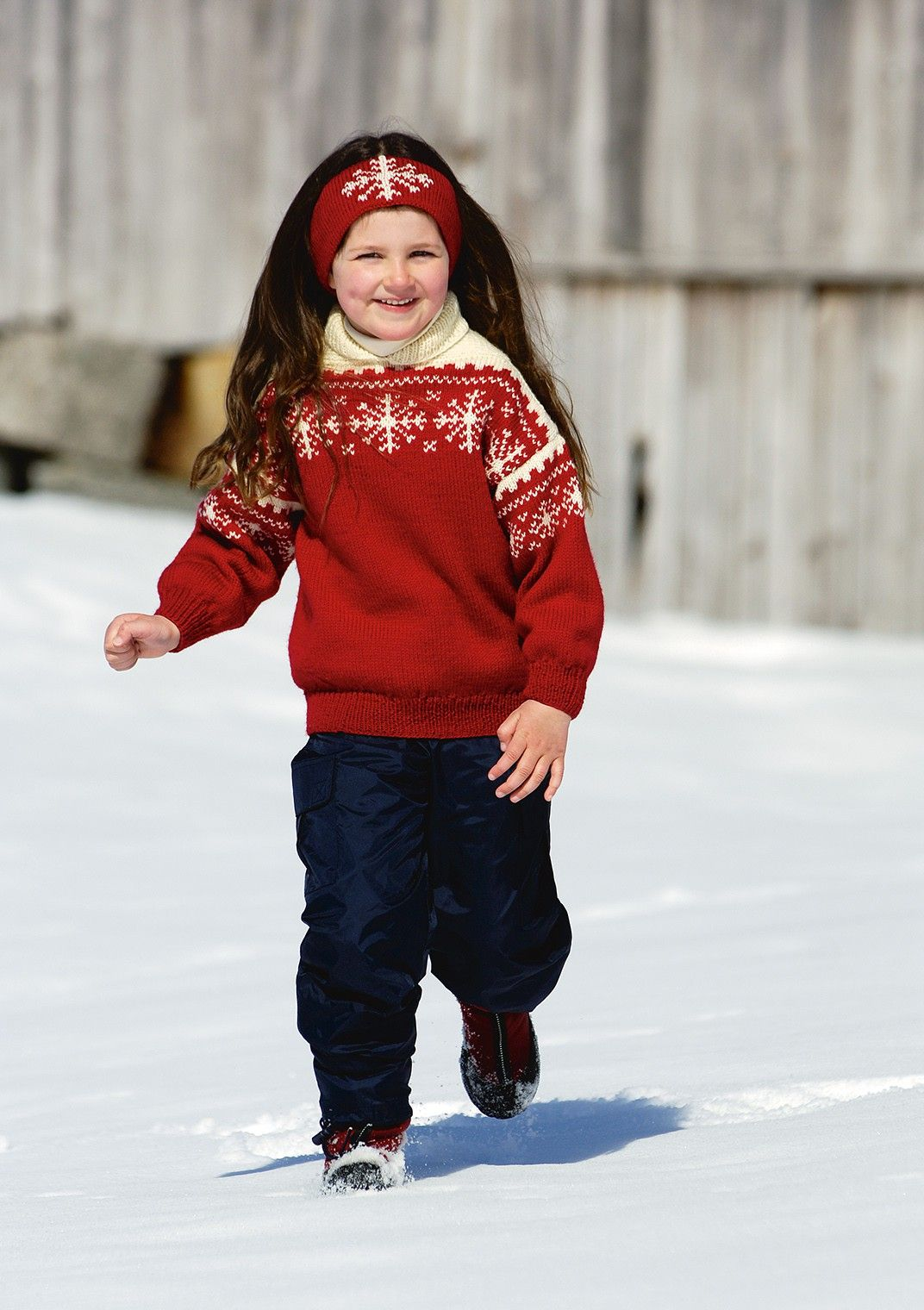 genser med snøkrystaller